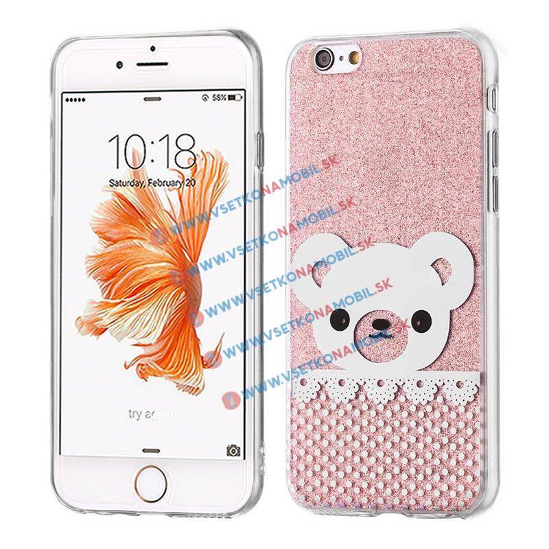 FORCELL SHINY BEAR Silikónový obal Apple iPhone 6 / 6S ružový
