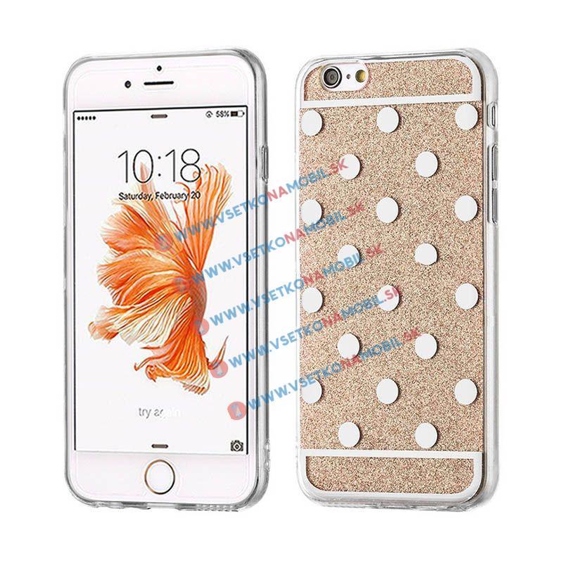 FORCELL SHINY DOTS Silikónový obal Apple iPhone 6 / 6S zlatý
