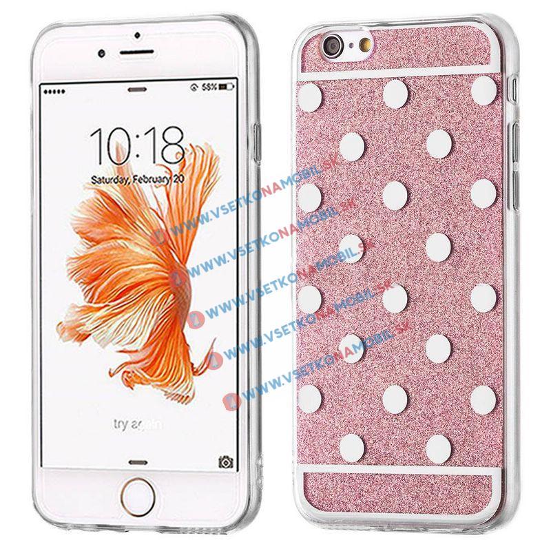 FORCELL SHINY DOTS Silikónový obal Apple iPhone 6 / 6S ružový