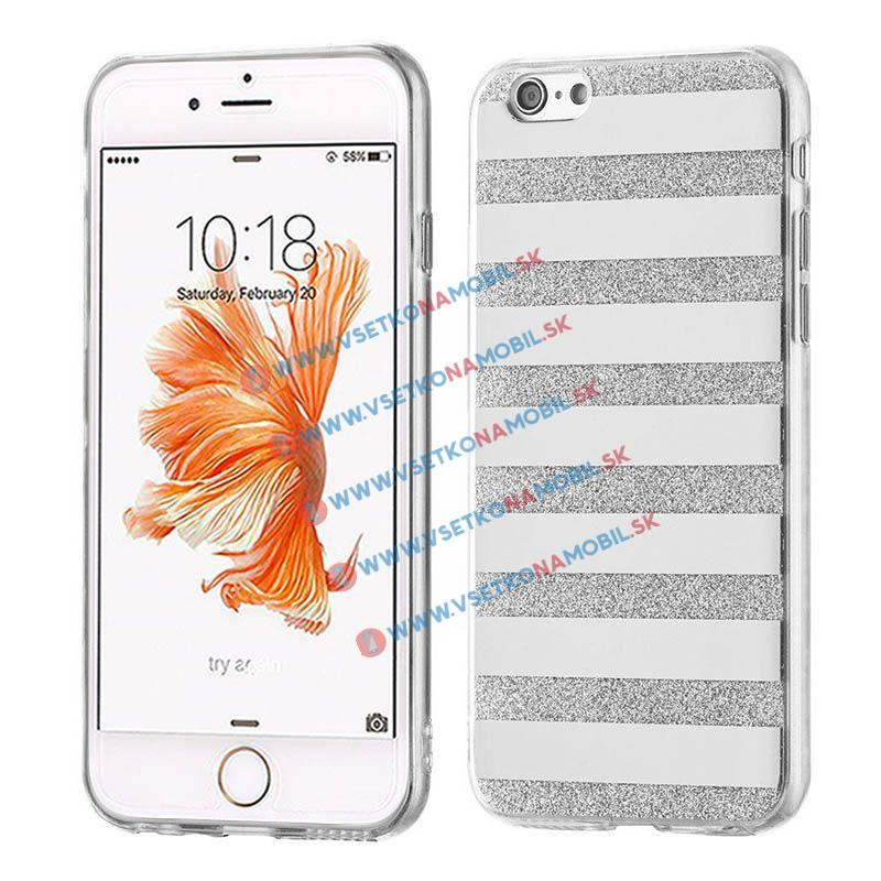 FORCELL SHINY LINES Silikonový obal Apple iPhone 6   6S stříbrný b4d874d3432