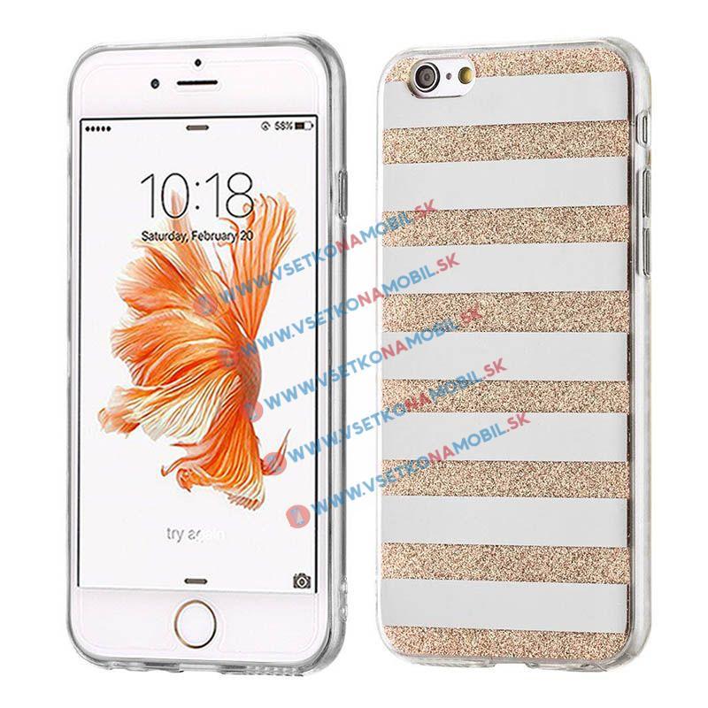 FORCELL SHINY LINES Silikonový obal Apple iPhone 6 / 6S zlatý
