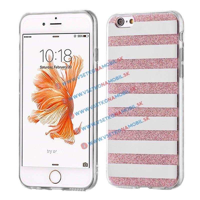 FORCELL SHINY LINES Silikónový obal Apple iPhone 6 / 6S ružový