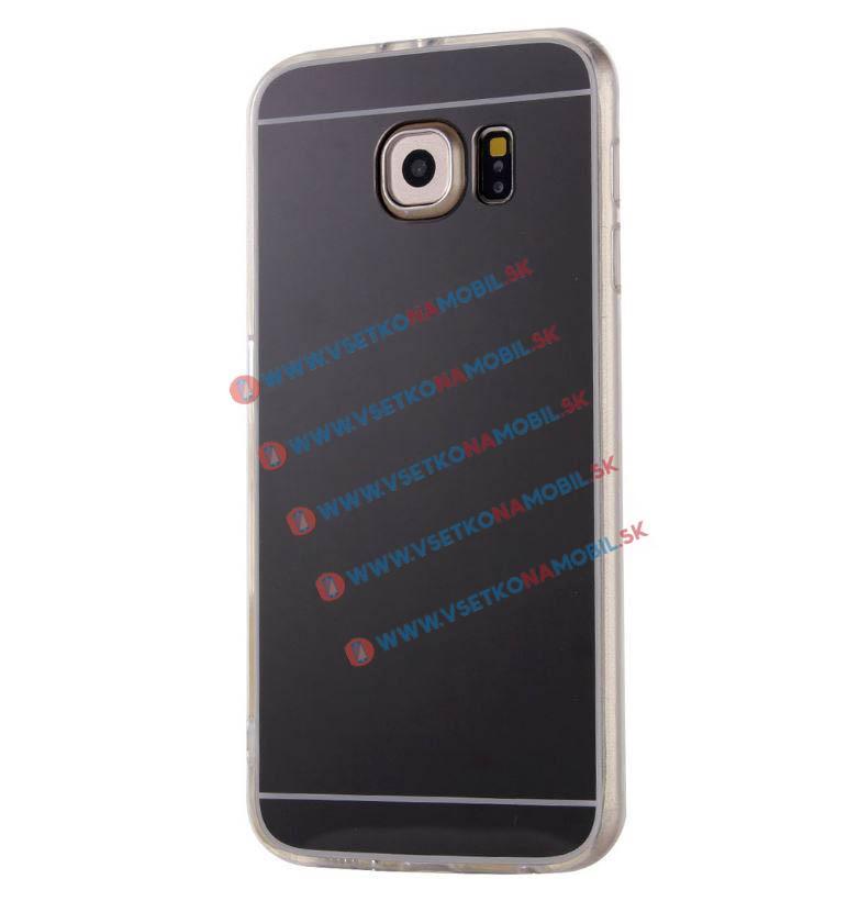 FORCELL Zrkadlový silikónový obal Samsung Galaxy S7 Edge čierny