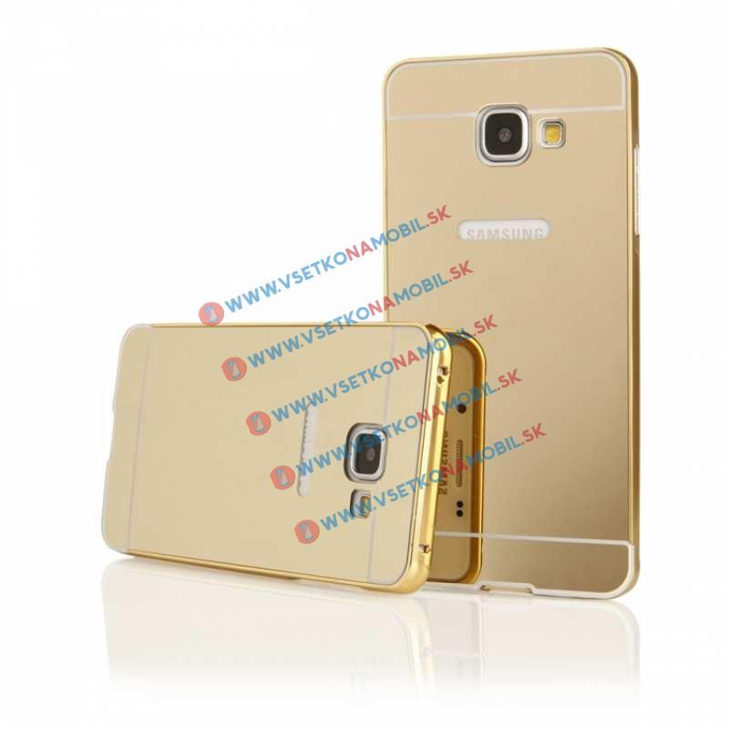 FORCELL Ochranný Zrkadlový obal Samsung Galaxy A3 2016 (A310) zlatý