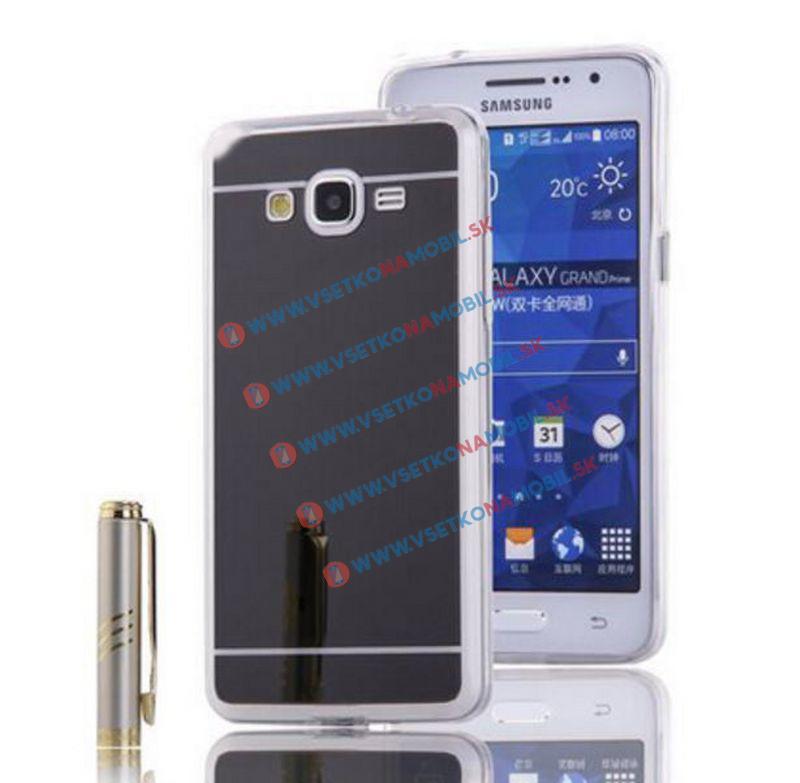 FORCELL Zrkadlový silikónový obal Samsung Galaxy Grand Prime čierny