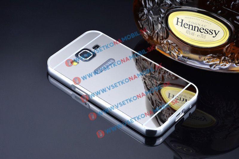 Ochranný zrkadlový obal Samsung Galaxy Core Prime (G360) strieborný