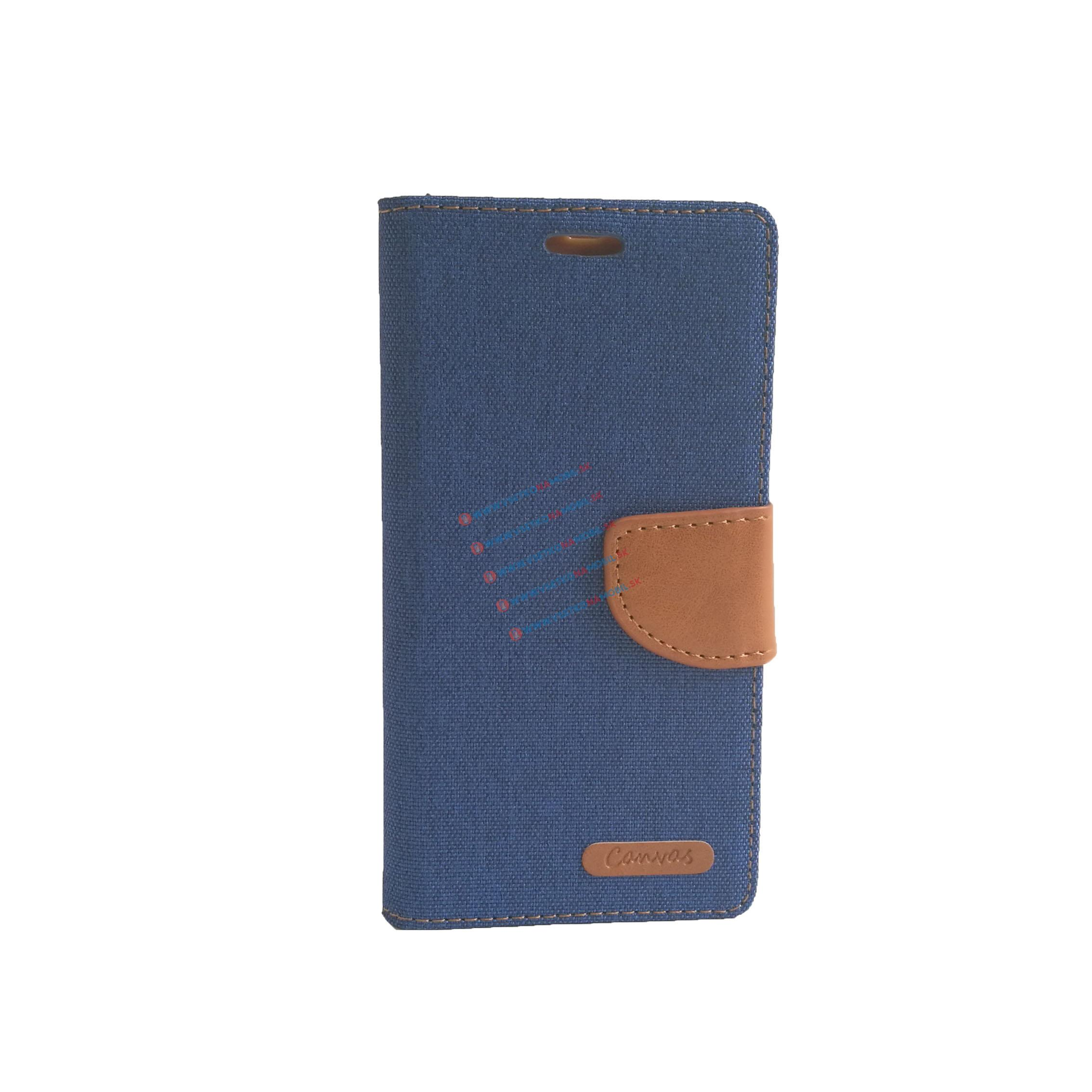 FORCELL CANVAS peňaženkové púzdro Lenovo A6000 modré