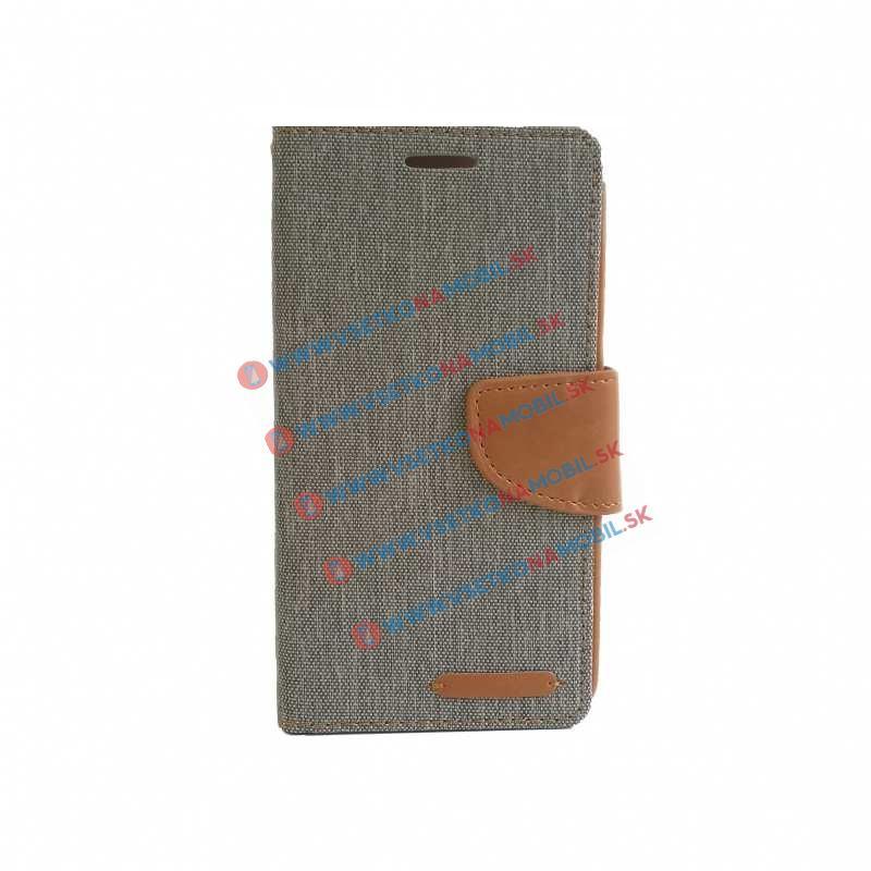 CANVAS Peňaženkové pouzdro Huawei Honor 7 šedé