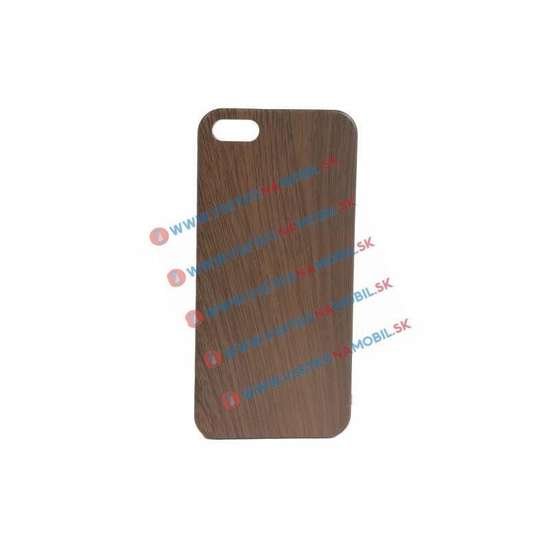 FORCELL Plastový obal Apple iPhone 5 / 5S / SE WOOD dark