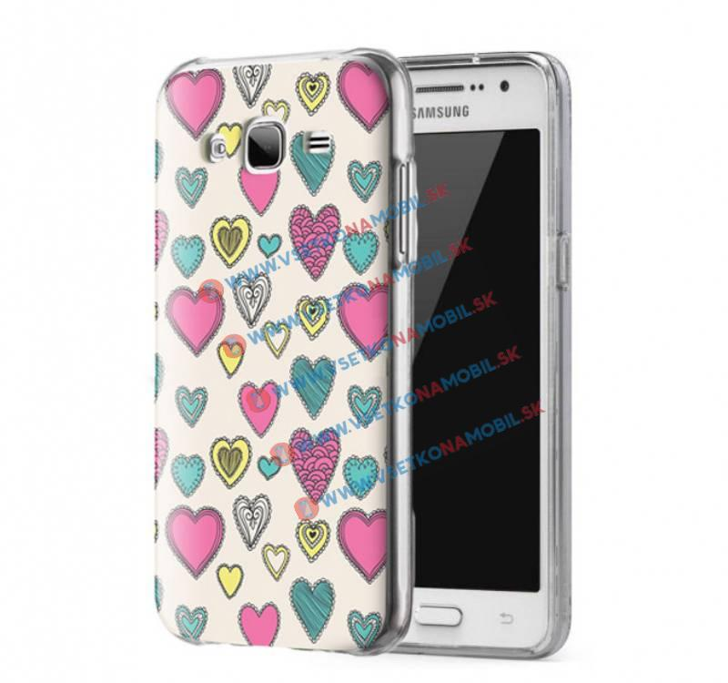 FORCELL ART Silikónový obal Samsung Galaxy Grand Prime HEARTS