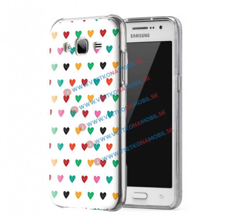 FORCELL ART Silikónový obal Samsung Galaxy Grand Prime HEARTS 2