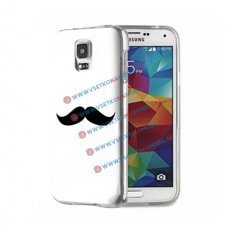 FORCELL ART TPU Kryt Samsung Galaxy S5 MOUSTACHE WHITE