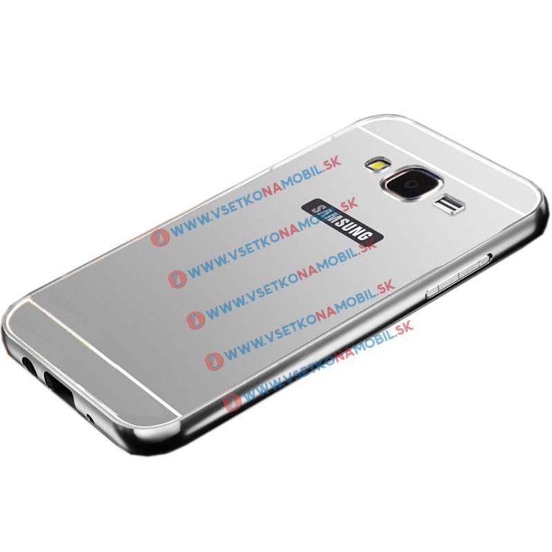 Zrkadlový obal Samsung Galaxy J5 2015 (J500) strieborný