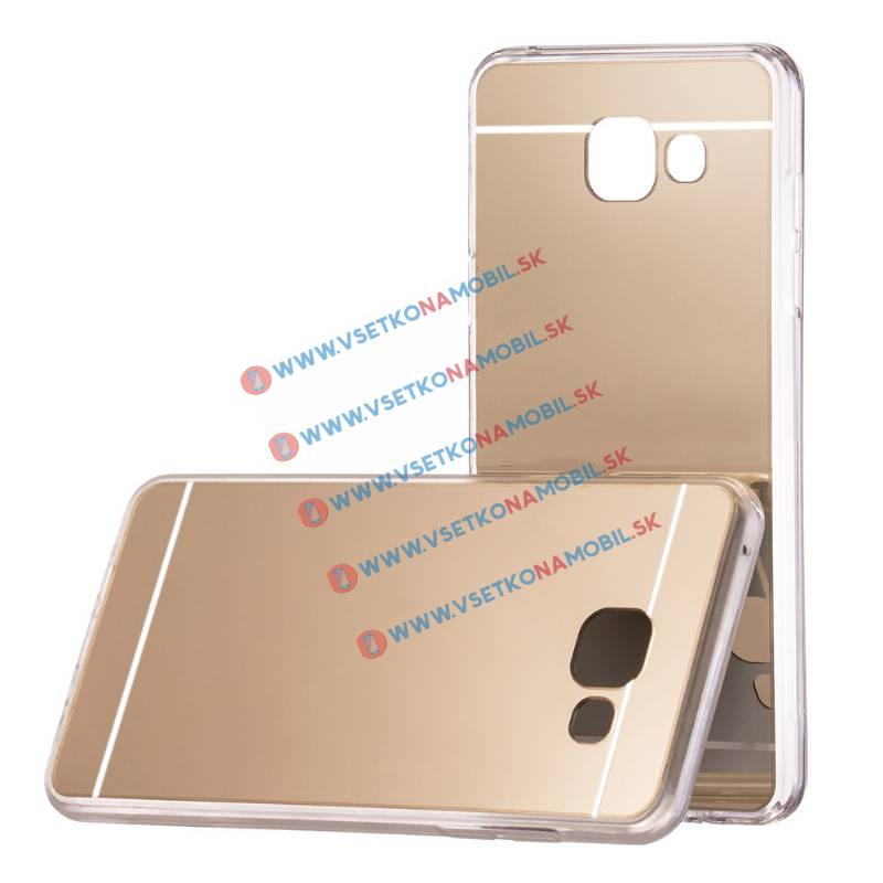 FORCELL Zrkadlový silikónový obal Samsung Galaxy A3 2017 (A320) zlatý
