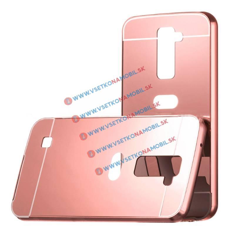 Ochranný zrcadlový obal LG K10 růžový