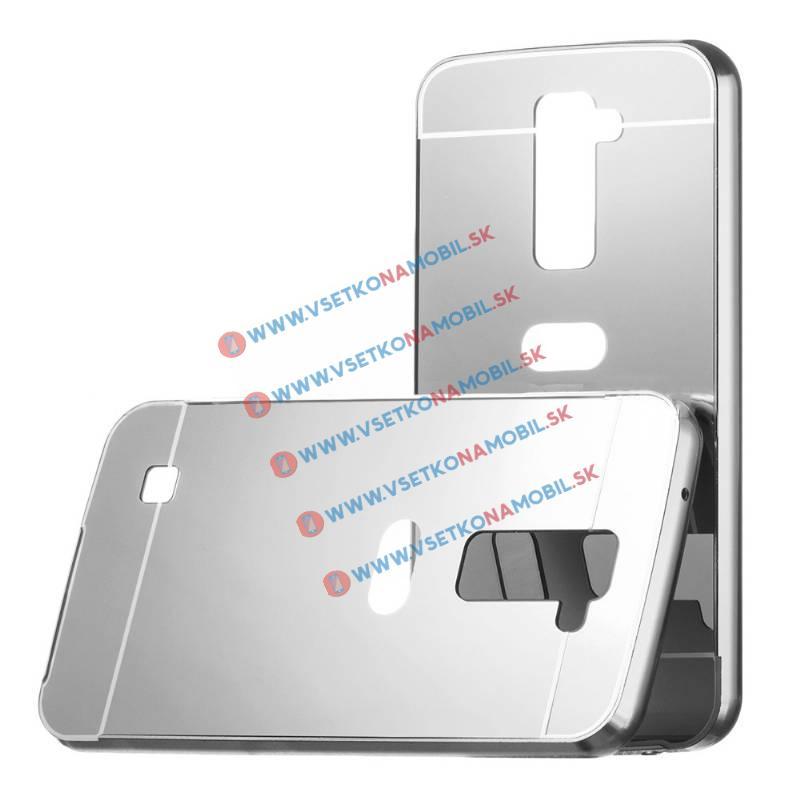 Ochranný zrkadlový obal LG K10 strieborný