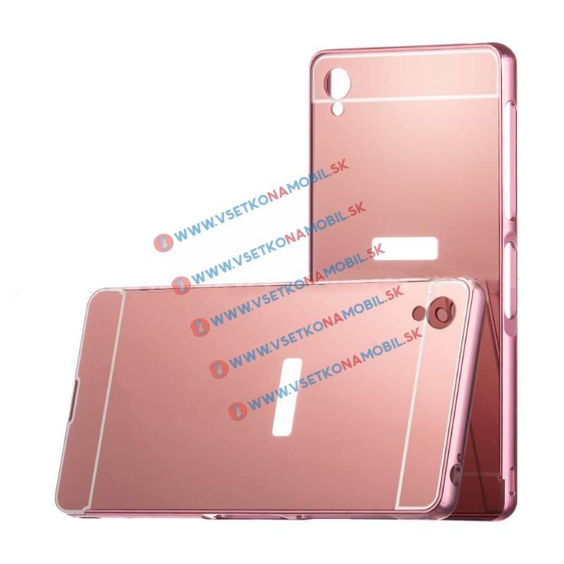 Ochranný zrkadlový obal Sony Xperia Z3 ružový