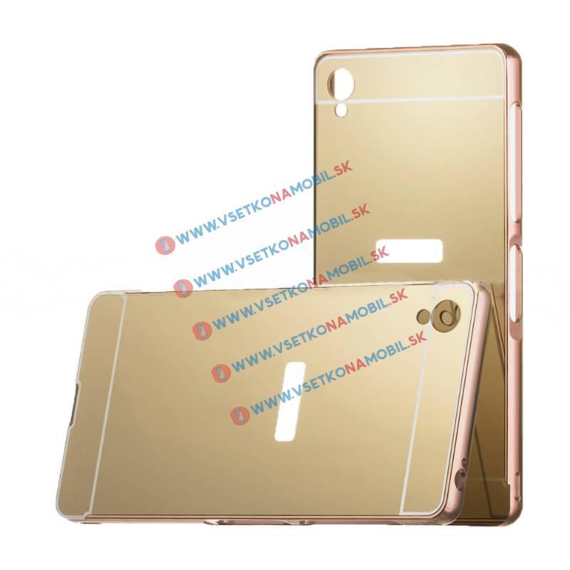 FORCELL Ochranný zrkadlový obal Sony Xperia Z3 zlatý