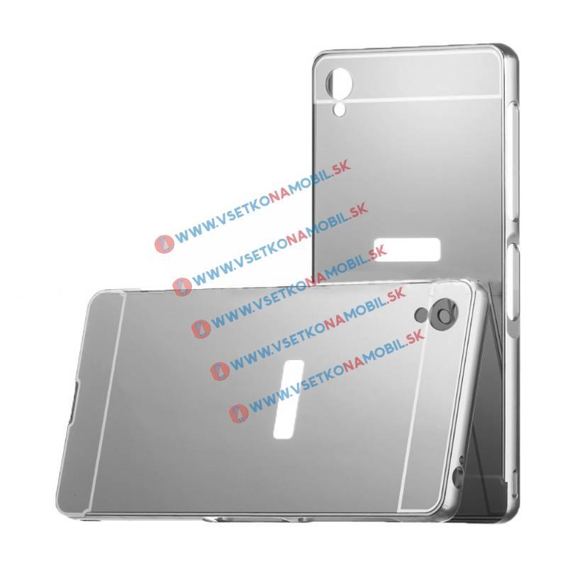 Ochranný zrkadlový obal Sony Xperia Z3 strieborný