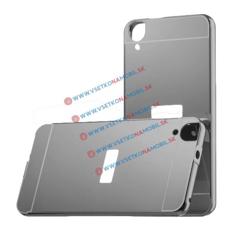 Ochranný zrkadlový obal HTC Desire 820 čierny