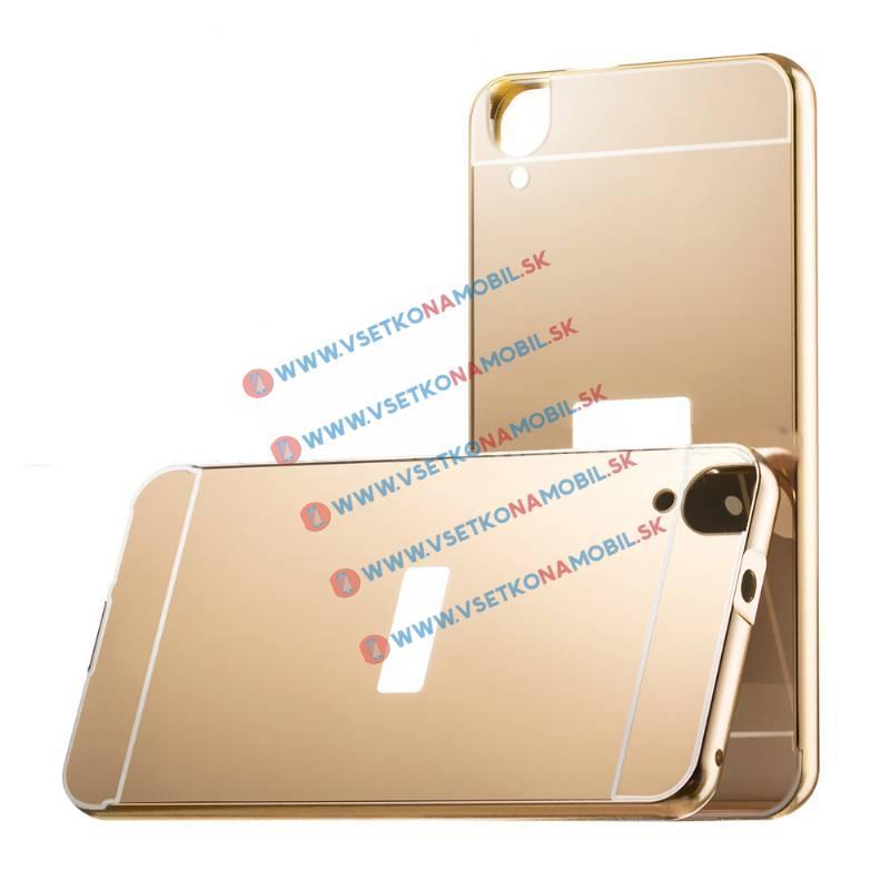 Ochranný zrkadlový obal HTC Desire 820 zlatý