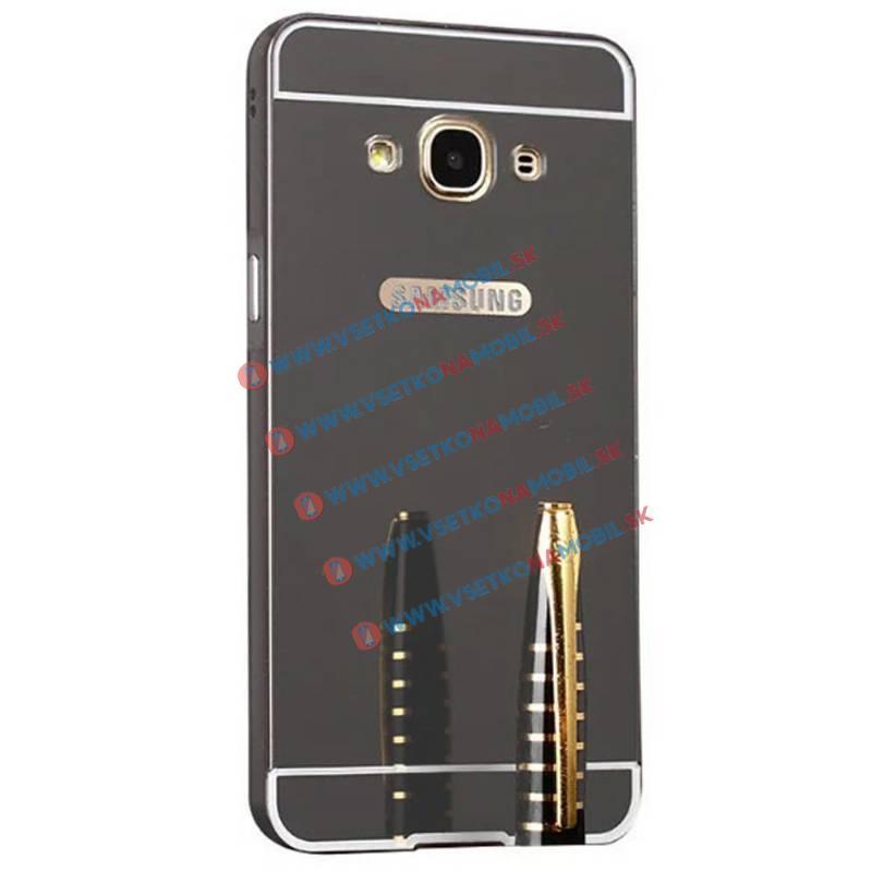 Ochranný zrkadlový obal Samsung Galaxy Grand Prime čierny