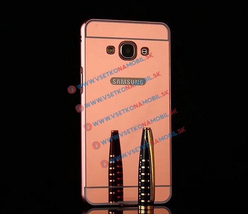 Ochranný zrkadlový obal Samsung Galaxy Grand Prime ružový