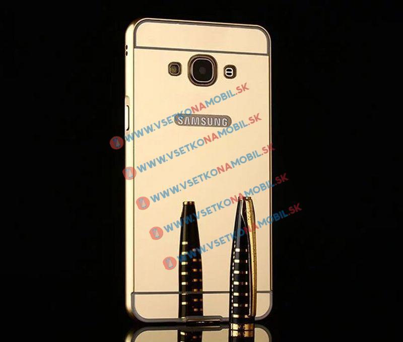 Ochranný zrkadlový obal Samsung Galaxy Grand Prime zlatý
