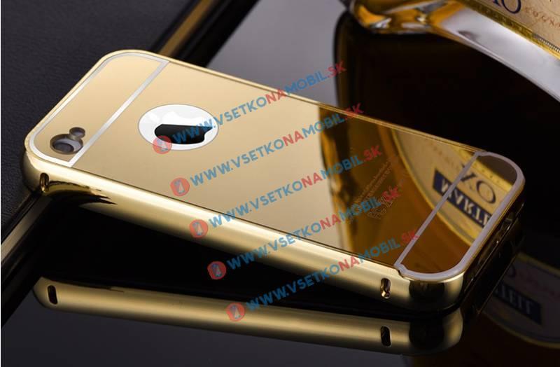 FORCELL Ochranný zrkadlový obal Apple iPhone 4 / 4S zlatý