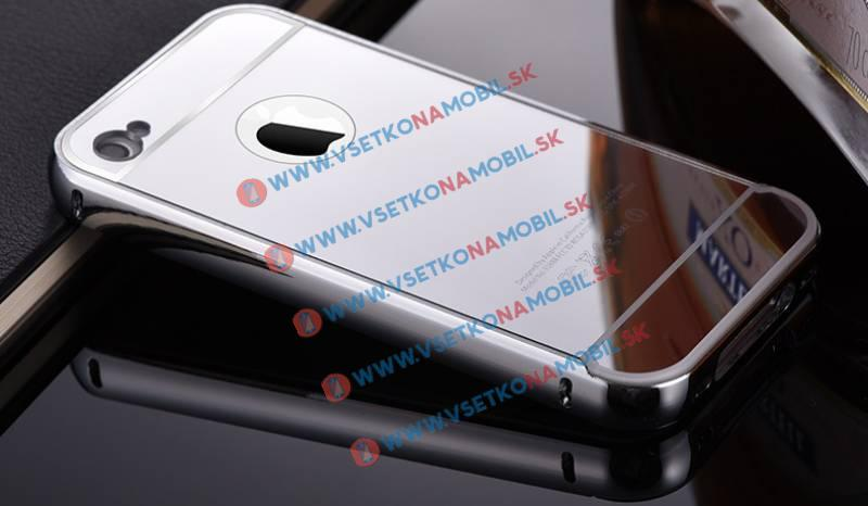 FORCELL Ochranný zrkadlový obal Apple iPhone 4 / 4S strieborný