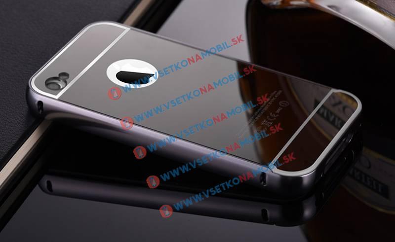FORCELL Ochranný zrkadlový obal Apple iPhone 4 / 4S čierny