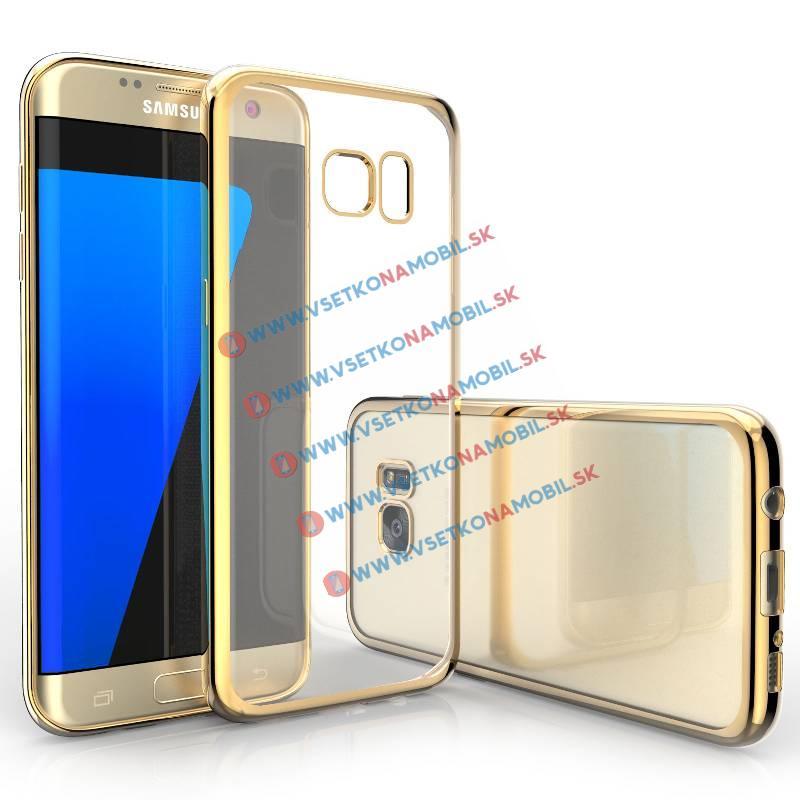 FORCELL METALLIC TPU obal Samsung Galaxy S7 Edge zlatý a7cbb4b56c0