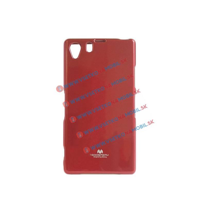JELLY TPU Ochranný obal Sony Xperia Z1 červený
