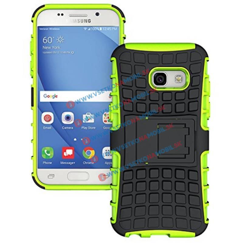 STAND Ochranný kryt Samsung Galaxy A7 2017 (A720) zelený
