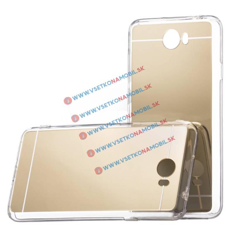 FORCELL Zrkadlový Silikónový obal Huawei Y5 II / Y6 II Compact zlatý