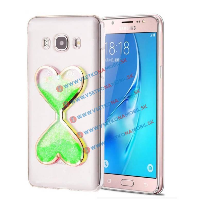 FORCELL Silikónový obal Samsung Galaxy J5 2016 HEART zelený
