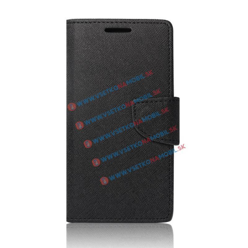 FANCY Peňaženkové puzdro Sony Xperia E5 čierne