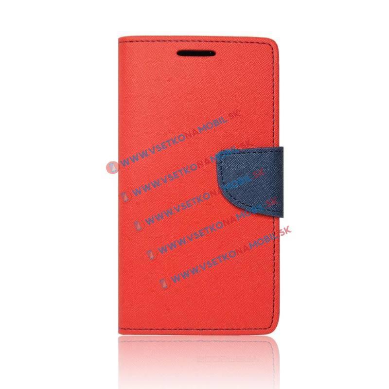 FANCY Peňaženkový obal Huawei Y5 II / Y6 II Compact červený