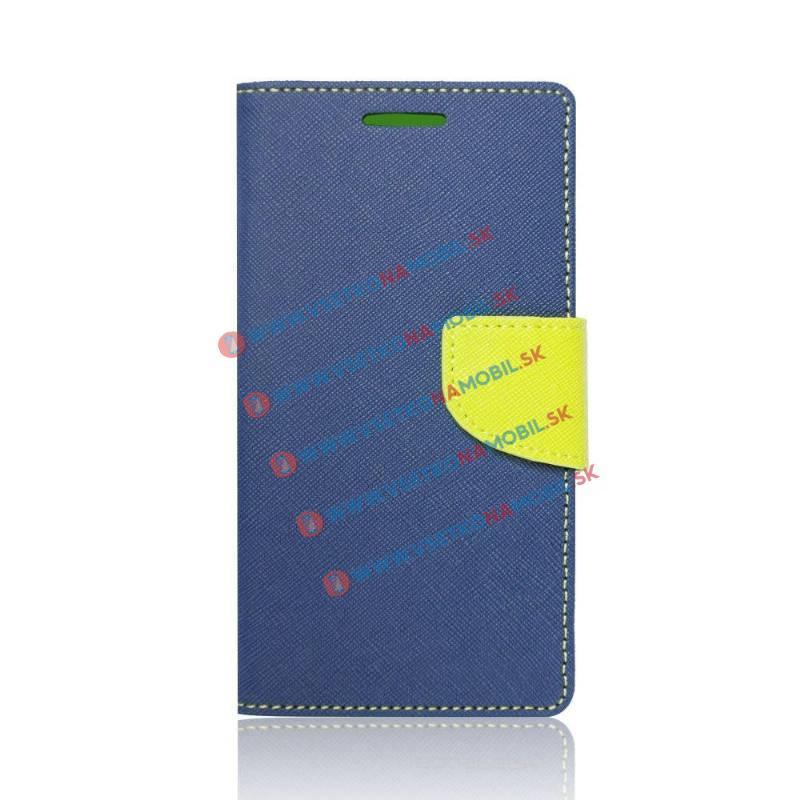FANCY Peňaženkový obal Huawei Honor 7 Lite / 5C modrý