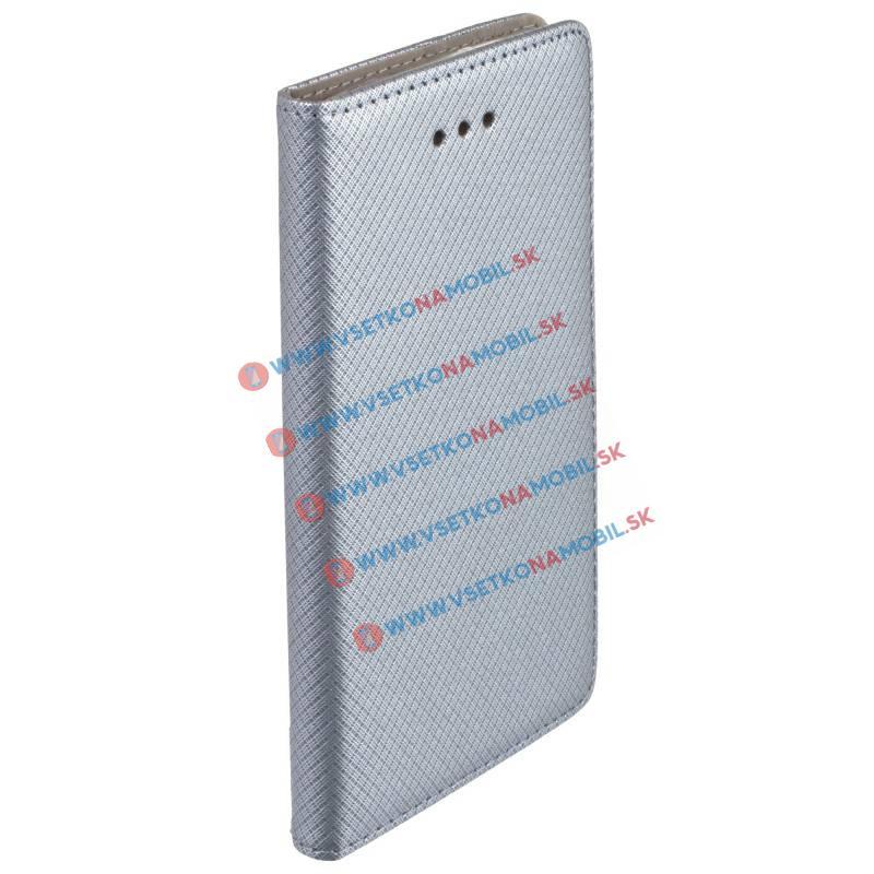 MAGNET Peňaženkový Obal Lenovo K6 Note šedý