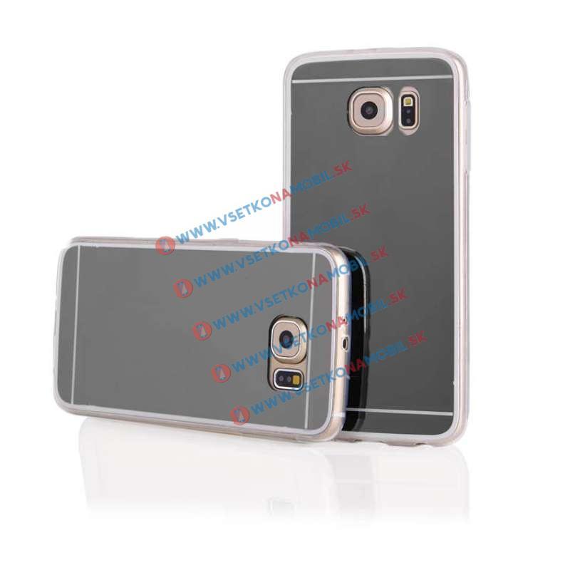 FORCELL Zrkadlový silikónový obal Samsung Galaxy S6 Edge čierny