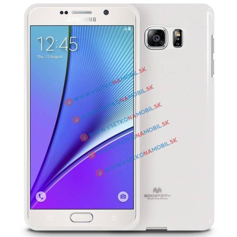 MERCURY JELLY TPU Obal Samsung Galaxy Note 5 biely