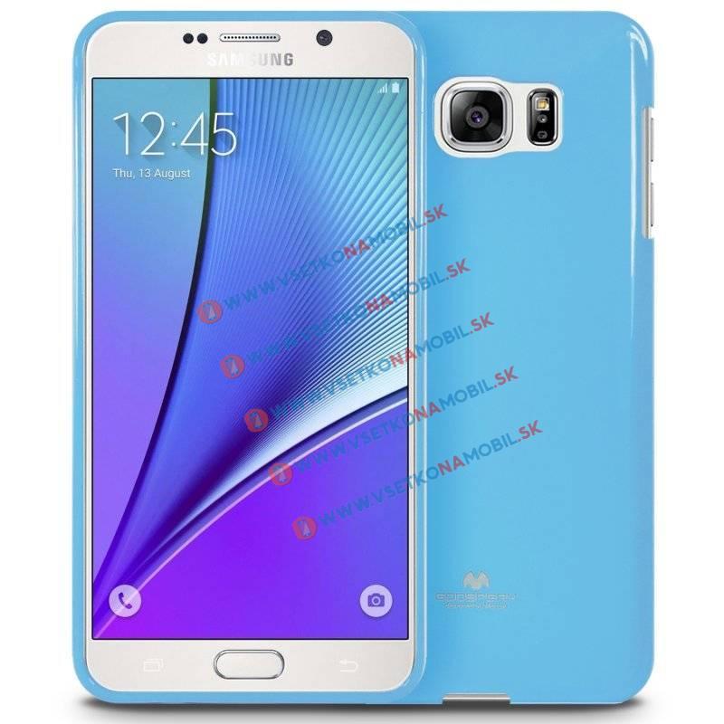 MERCURY JELLY TPU Obal Samsung Galaxy Note 5 modrý