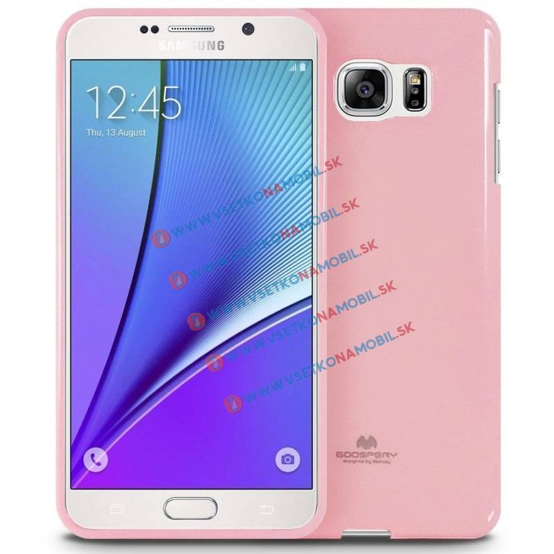 MERCURY JELLY TPU Obal Samsung Galaxy Note 5 ružový light