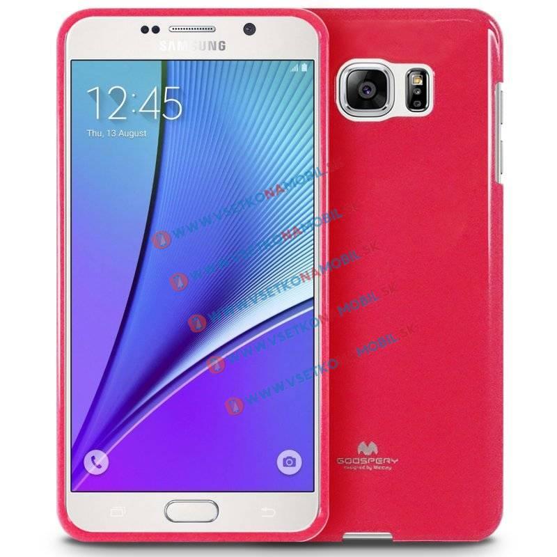 MERCURY JELLY TPU Obal Samsung Galaxy Note 5 ružový strong