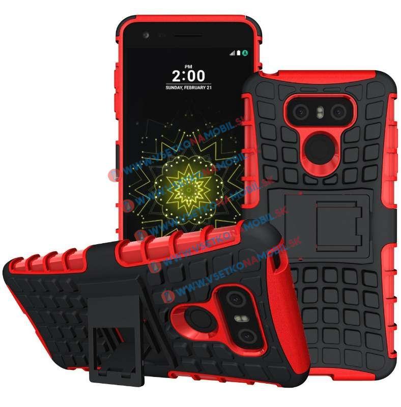 STAND Extra odolný obal LG G6 červený