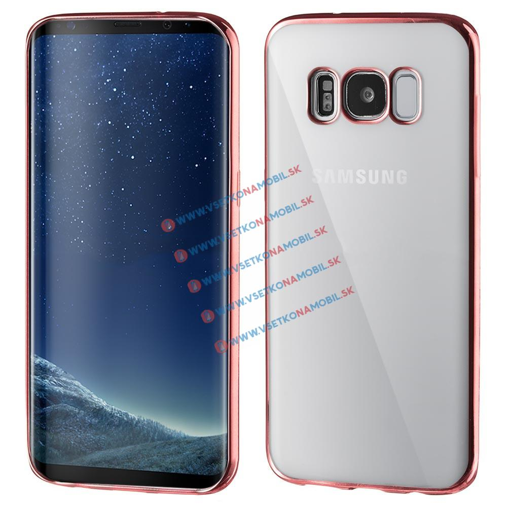 FORCELL METALLIC Silikonový obal Samsung Galaxy S8 Plus růžový