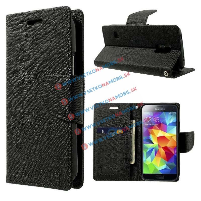 FANCY Peňaženkové puzdro Samsung Galaxy S5 Mini čierne