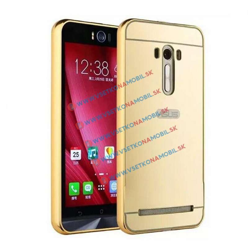 """Ochranný zrcadlový obal Asus Zenfone 2 Laser 5.0 """"(ZE500KL) zlatý"""