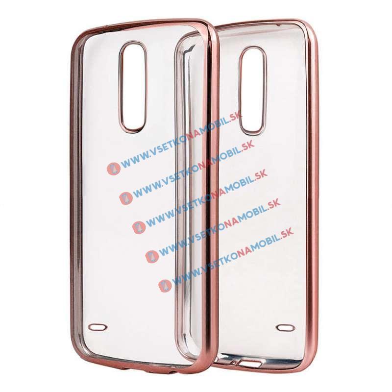 FORCELL METALLIC Silikónový obal LG K10 2017 ružový